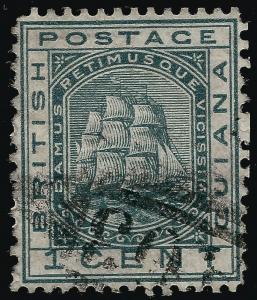 British Guiana  SG 136 14x12 1/2 Used F-VF ...Fill a key British Colony spot!