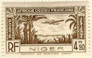 French Niger Air Post (Scott C4) Mint F-VF hr...Buy before prices go up!