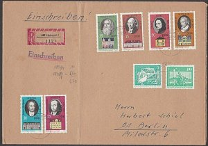 EAST GERMANY 1973 Registered cover - Nice franking -........................B688