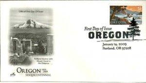 Artcraft 4376 Oregon Portland Skyline with Mt. Hood in Distance Pictorial Cancel