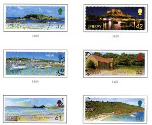 Jersey Sc 1396-01 2009 Scenery stamp set used