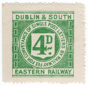 (I.B) Dublin & South Eastern Railway : Letter Stamp 4d