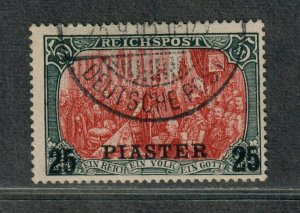 German Offices In Turkey Sc#30 Used/F-VF, Signed, Cv. $525