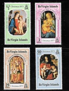 British Virgin Islands  (1973)  - Scott # 262 - 265, MNH