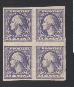 US#535 Violet - Bock of 4 - Type IV - Used