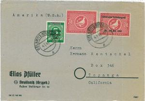 GERMANY: SOVIET ZONE Sowjetische Besatzungszone - POSTAL HISTORY - DOVES Birds
