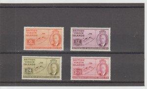 British Virgin Islands  Scott#  98-101  MH  (1951 restoration of Legislative Cou