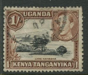 Kenya & Uganda - Scott 80a - KGVI Definitive -1949 - Used - Single 1/-c Stamp