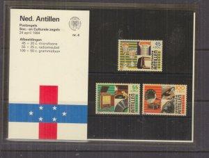 NETHERLANDS ANTILLES,1984 Social Relief Fund set of 3, Folder 4