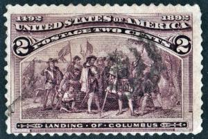 SC#231 2¢ Landing of Columbus (1893) Used