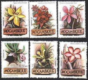 Mozambique. 1981. 865-70. Flowers, flora. MLH.