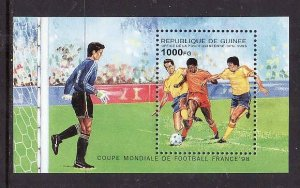 Guinea-Sc#1291-unused NH sheet-Sports-World Cup Soccer - France-1995-