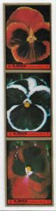 Ajman Michel #2130A-2A MNH Strip - Flowers