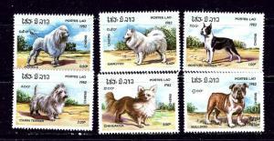 Laos 405-10 MNH 1982 Dogs complete set
