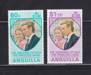 Anguilla 179-180 Set MNH Princess Annes Wedding