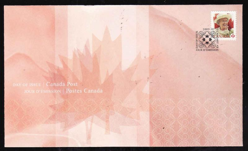 Canada-Sc#2298-stamp on FDC-QEII-2009