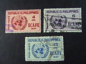 PHILIPPINES # 516-518-USED---COMPLETE SET---1947