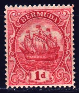 Bermuda. 1928. 71 w from the series. Sailboat. MNH.