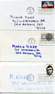 Hero Collection of US First Day Covers.  See description for details