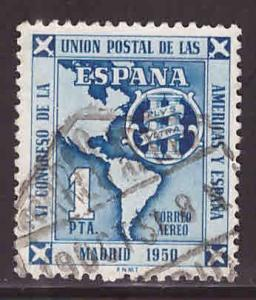 Spain C131 Used Airmail Map stamp