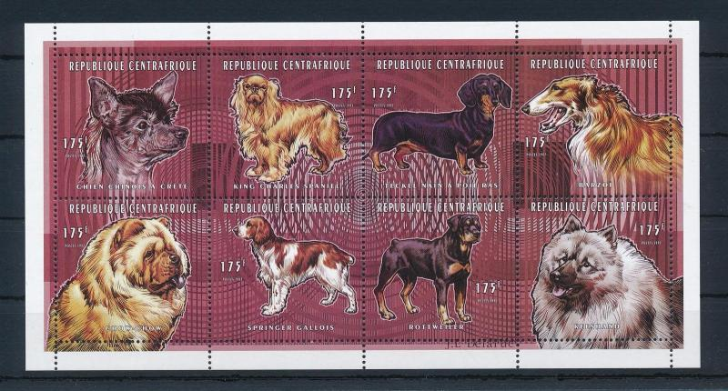 [26949] Central African Republic 1998 Animals Dogs MNH Sheet