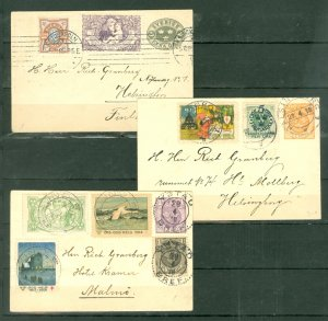 SWEDEN #1905-1918 LOT of 3 NICE COVERS