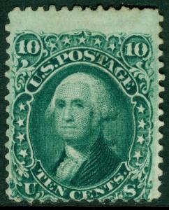 EDW1949SELL : USA 1861 Scott #68 Mint No Gum. Deep color. Catalog $400 as no gum