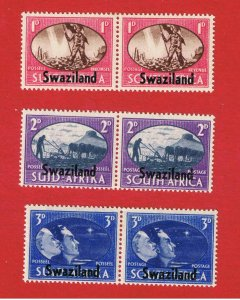 Swaziland #38-40  MVFLH OG  Peace Issue Pairs   Free S/H