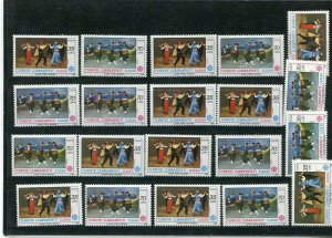 D093736 Europa CEPT 1981 Folklore Wholesale 10 Series MNH Turkey