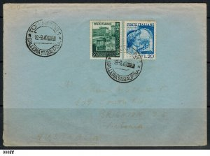 Italy 1949 Combined Catullo  and Reconstruction First Day Cover to Australia