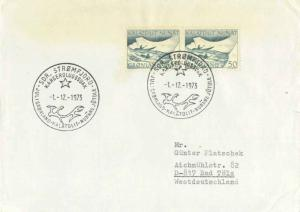 Greenland 50o Mail-carrying Kayaks (2) 1973 Sdr. Stromfjord Kangerdlugssuak J...