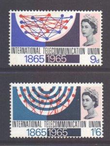 GB Scott 442/443 - SG683/684, 1965 ITU Centenary Set MH* (see desc.)