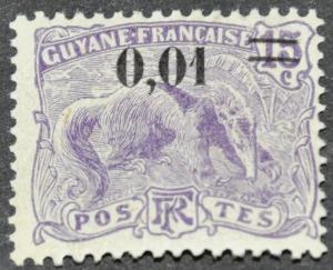 DYNAMITE Stamps: French Guiana Scott #94 – MINT hr