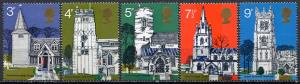 Great Britain; 1972: Sc. # 671-675: **/MNH Cpl. Set
