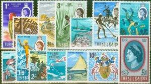 Turks & Caicos Is 1967 set of 14 SG274-287 V.F Lightly Mtd Mint