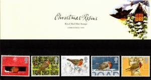 STAMP STATION PERTH Great Britain # Christmas Robins Presentation Pack 262 MNH