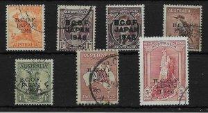 AUSTRALIA-B.C.O.F. SGJ1/7 1946-7 OVERPRINT SET USED