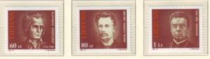 Lithuania Sc 475-7 1994 Famous Lithuanians stamp set mint NH