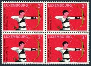 Luxembourg 514 block/4,MNH.Michel 848. 3rd European Archery Championships,1972.