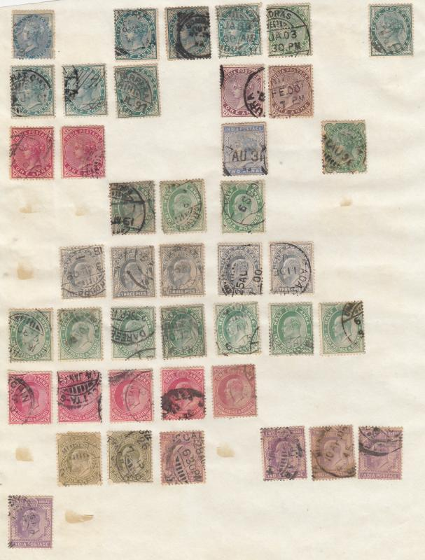 India - small stamp collection - (1782)
