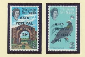 St. Kitts-Nevis Scott #161 To 162, Mint Never Hinged MNH, St. Kitts Art Festi...