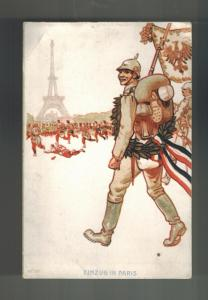1915 Linz Unfahr Austria Feldpost KuK Postcard Cover RPPC Einzug in Paris