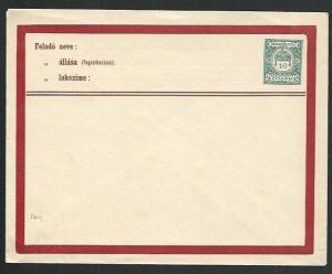 HUNGARY 16f envelope fine unused...........................................66419