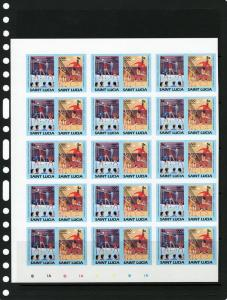 St.Lucia 1984 Los Angeles Olympic Block of 15 Sets Imperf !!