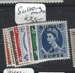 KUWAIT (PP1704BB)  ON  GB  QEII    SG 110-9   MNH