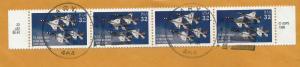 USA 1997 Scott 3167 Strip of 4 on piece BIN $2.00