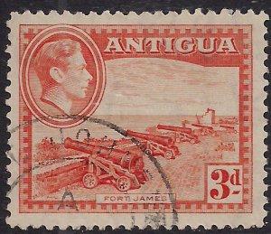 Antigua 1938 – 51 KGV1 3d Orange SG 103 ( M688 )