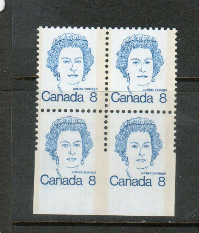 Canada #593xiii Extra Fine Never Hinged Imperf Bottom Half Of Stamp & Margin Blk