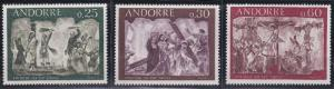 Andorra - French Issues 185-187 MNH (1968)