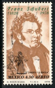 MEXICO C587 150th Anniv of the death of Franz Schubert USED.VF. (823)